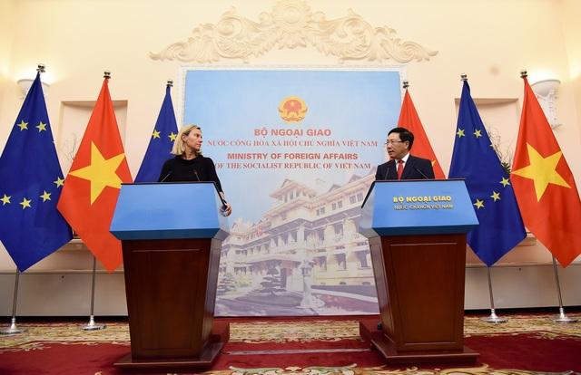 Việt Nam - EU nêu căng thẳng Biển Đông trong cuộc họp báo tại Hà Nội - 1
