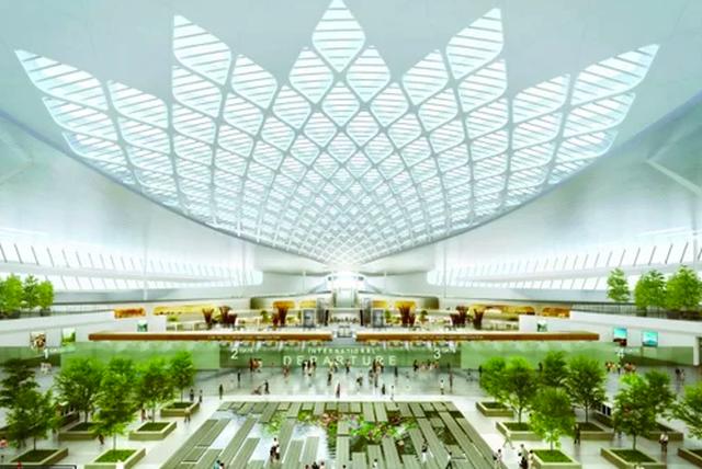 Hoa sen, thác nước là điểm nhấn nổi bật trong sân bay Long Thành - 1