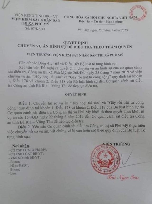 Công an tỉnh Bà Rịa - Vũng Tàu tiếp tục điều tra vụ 2 nhân viên địa ốc Alibaba đại náo - 1