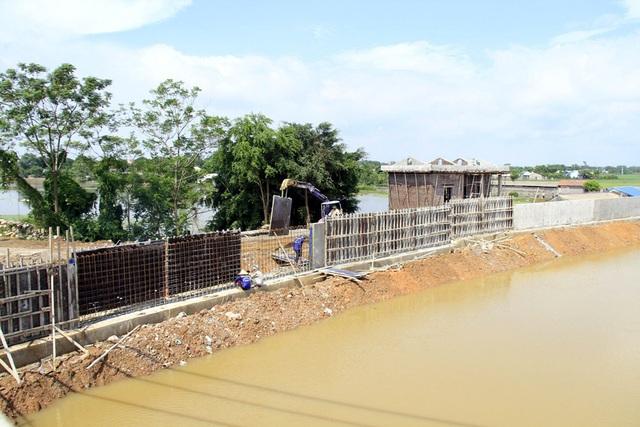 Hà Nội gấp rút hoàn thiện đê bê tông ngăn lũ sông Bùi đe dọa nội thành - 6