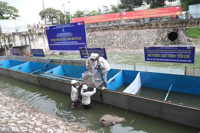 Chuyên gia Nhật Bản sẽ tắm trong khu thí điểm làm sạch sông Tô Lịch - 2