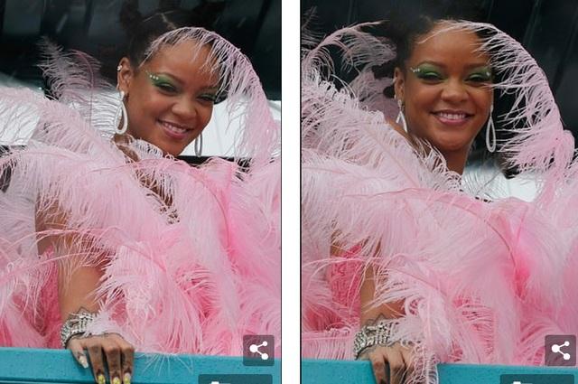 Rihanna hạnh phúc trong vòng vây của người hâm mộ - 5