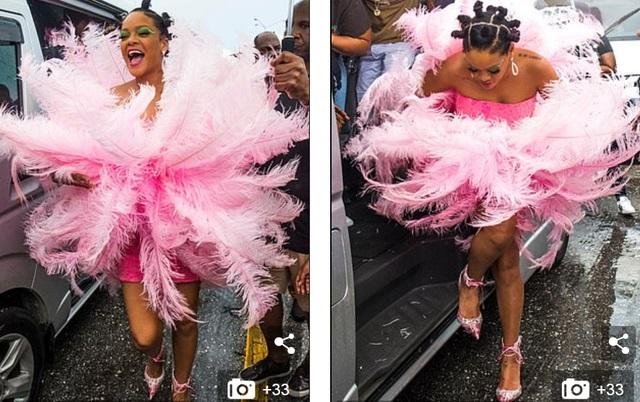 Rihanna hạnh phúc trong vòng vây của người hâm mộ - 2
