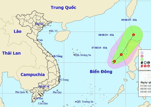 Xuất hiện áp thấp nhiệt đới, vùng biển Bình Thuận - Kiên Giang đề phòng giông lốc - 1
