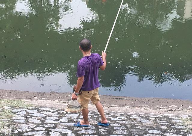 Dân câu kiếm cá sông Tô Lịch dễ như đi chơi - 5
