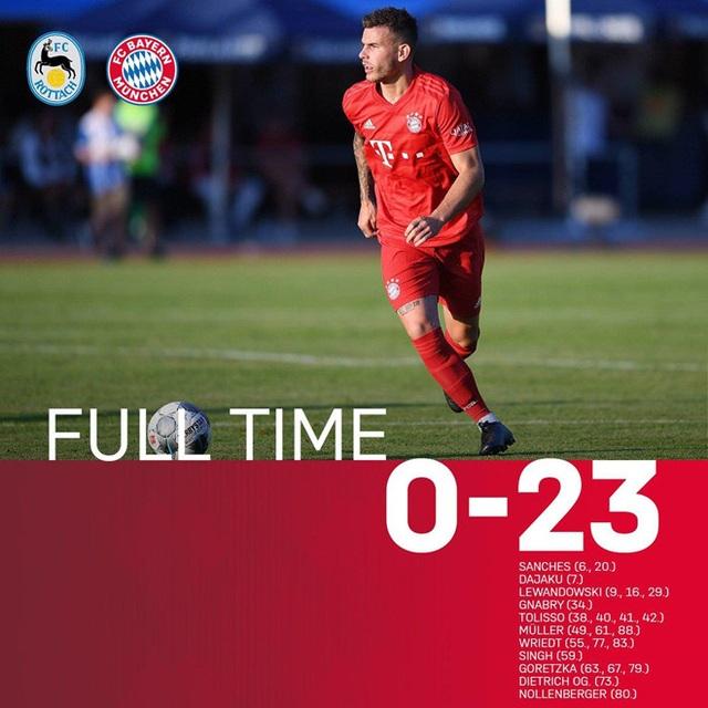 Đá giao hữu, Bayern Munich nã 23 bàn vào lưới đối thủ - 1