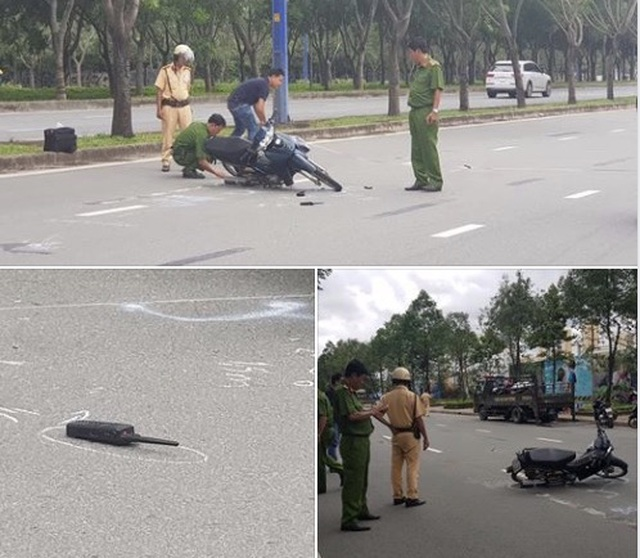 Thiếu tá Cảnh sát giao thông bị người vi phạm tốc độ tông trọng thương - 1
