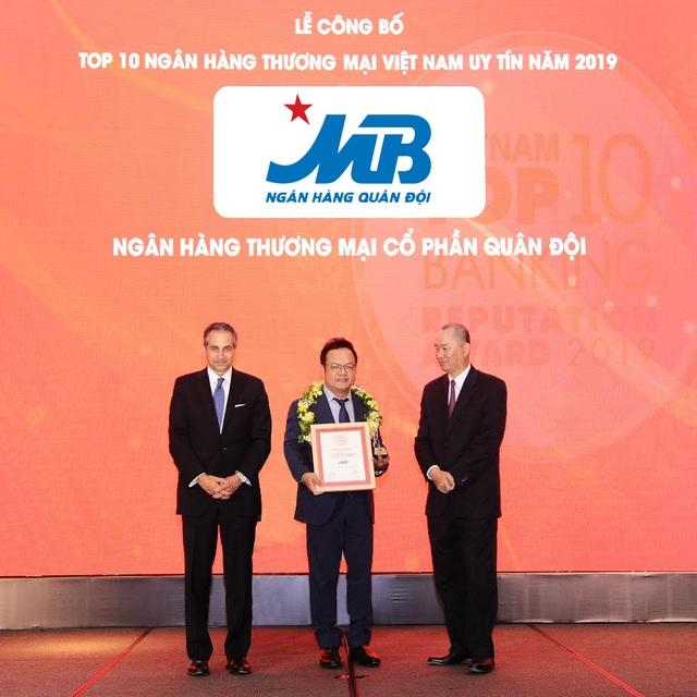 MB lọt Top 5 ngân hàng thương mại Việt Nam uy tín năm 2019 - 1