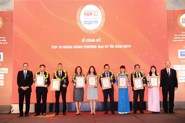 MB lọt Top 5 ngân hàng thương mại Việt Nam uy tín năm 2019 - 2