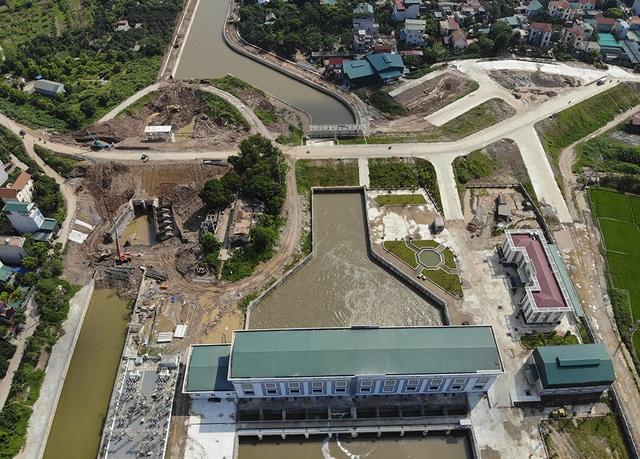 Toàn cảnh trạm bơm 7.464 tỷ đồng thoát nước cho phía Tây Hà Nội - 1