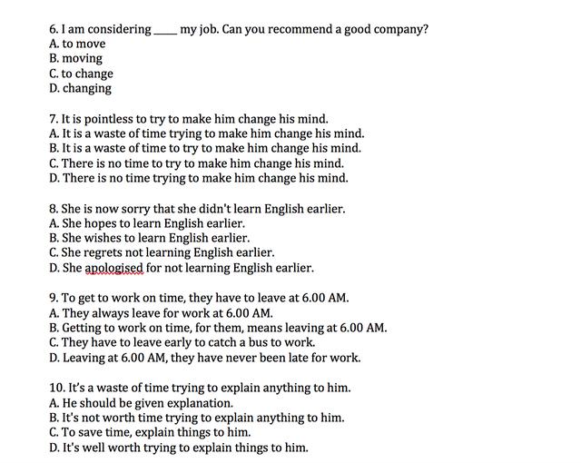 Học Tiếng Anh mỗi ngày: Trắc nghiệm kiến thức về Động từ Verb-ing - 3