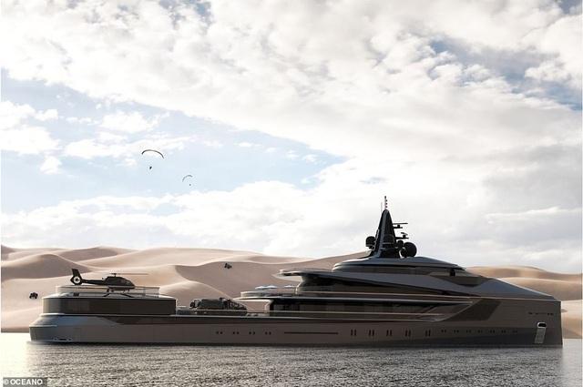 Siêu du thuyền 10 triệu bảng Anh đi vòng quanh thế giới, sở hữu tàu ngầm và máy bay riêng - 1