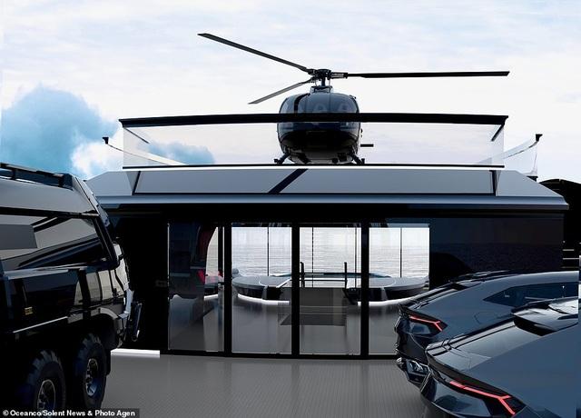 Siêu du thuyền 10 triệu bảng Anh đi vòng quanh thế giới, sở hữu tàu ngầm và máy bay riêng - 3