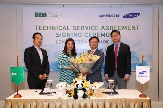 Bim Group kí kết thỏa thuận dịch vụ kỹ thuật với Samsung CT nhằm phát triển dự án công viên nước Phu Quoc Marina - 1