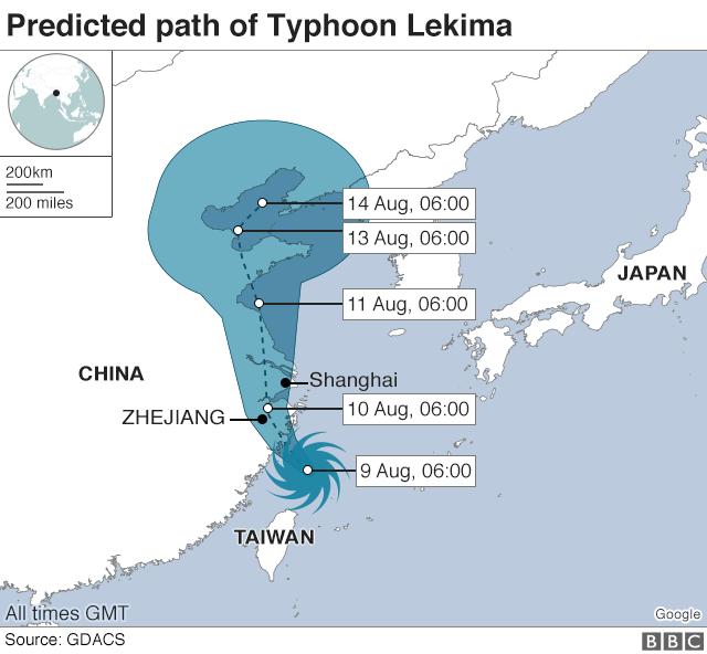 Siêu bão Lekima đổ bộ Trung Quốc: 44 người chết, 16 người mất tích - 1