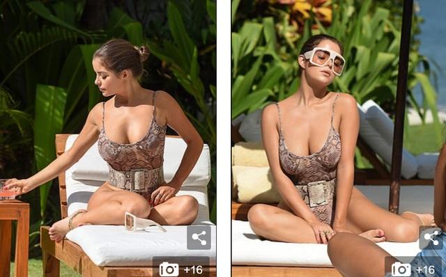 Demi Rose đẹp nuột nà bên bể bơi - 1