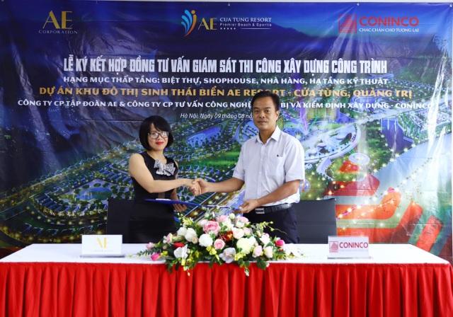 Tập đoàn AE tiếp tục lựa chọn CONINCO là công ty tư vấn giám sát các hạng mục thấp tầng dự án AE Resort Cửa Tùng - 2
