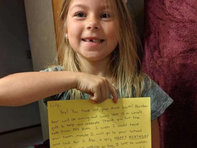 Mỹ: Răng sữa của học sinh bị mất, giáo viên viết thư giải trình gửi bà tiên răng - 2