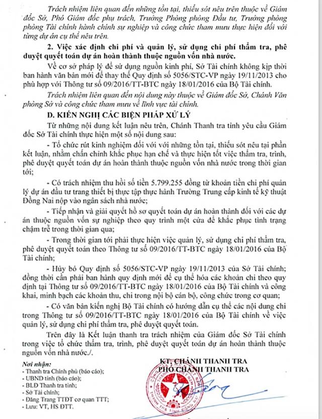 Hàng loạt thiếu sót tại Sở Tài chính tỉnh Đồng Nai - 2