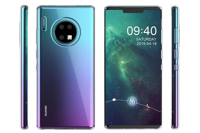 Lộ ảnh smartphone Huawei Mate 30 với thiết kế cụm camera tròn siêu độc - 1