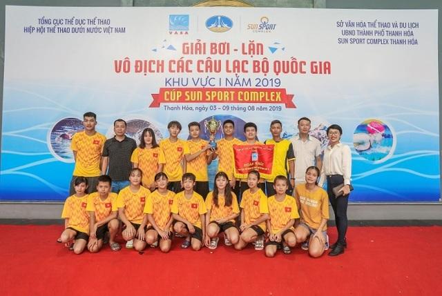 Đoàn Quảng Ninh giành giải Nhất Giải bơi lặn vô địch các CLB quốc gia khu vực 1 Cúp Sun Sport Complex 2019 - 1