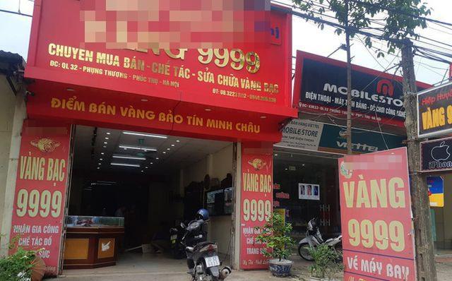 Hà Nội: Tiệm vàng bị trộm dỡ mái tôn đột nhập cuỗm mất 1,8 tỷ đồng - 1