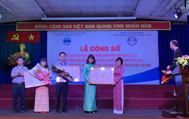 3 chương trình đào tạo đầu tiên của trường ĐH Sài Gòn đạt kiểm định chất lượng - 1