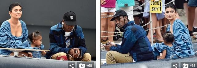 Kylie Jenner khoe ngực đầy đặn khi diện váy đồng màu với con gái - 4