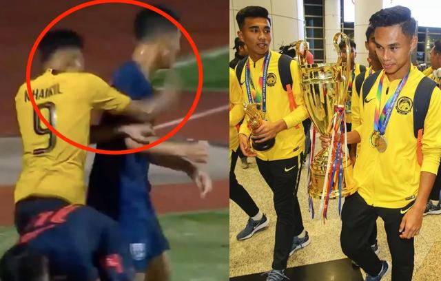 Đội trưởng U15 Malaysia giải thích lý do đấm ngôi sao U15 Thái Lan - 1