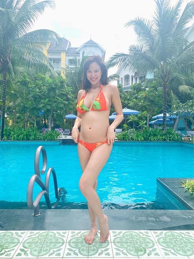 Phương Mai bụng bầu 5 tháng vẫn mặc bikini, múa cột sexy - 5