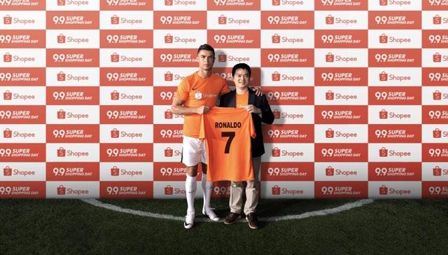 Shopee chính thức công bố Đại sứ thương hiệu mới - Siêu sao bóng đá  thế giới Cristiano Ronaldo - 1