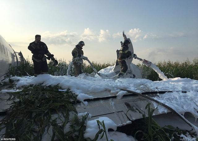 Video chim lao vào động cơ làm máy bay Nga chở 233 người tiếp đất bằng bụng - 1