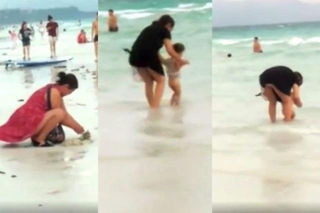 Bãi biển đóng cửa vì khách Trung Quốc chôn tã bẩn xuống cát - 1