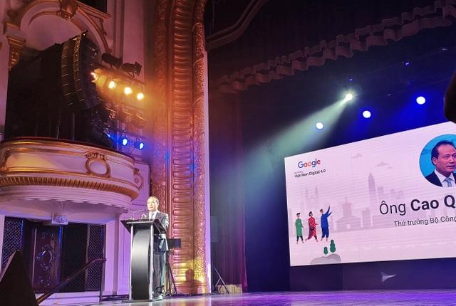 Thứ trưởng Bộ Công Thương Cao Quốc Hưng phát biểu tại lễ hợp tác với Google