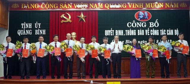 Quảng Bình điều động, bổ nhiệm 13 lãnh đạo chủ chốt - 1