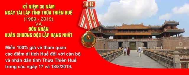 Miễn vé tham quan di tích cho người dân Thừa Thiên Huế nhân 30 năm ngày tái lập tỉnh - 1