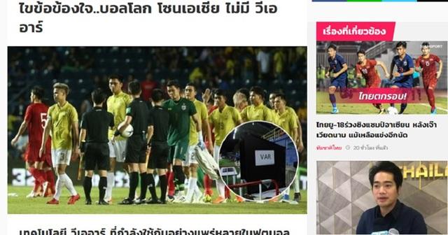 Thực hư chuyện người Thái sử dụng công nghệ VAR ở trận gặp tuyển Việt Nam