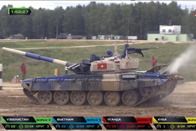 Việt Nam giành hạng nhì chung kết đua xe tăng ở Nga - 2