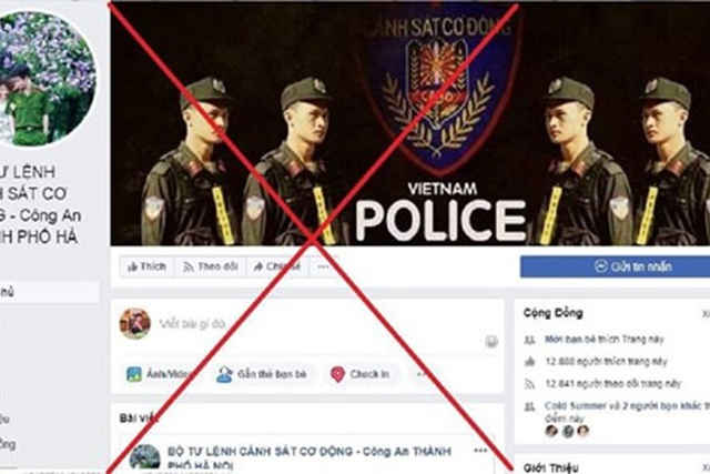 Xuất hiện nhiều địa chỉ giả mạo Facebook của Công an Hà Nội - 1