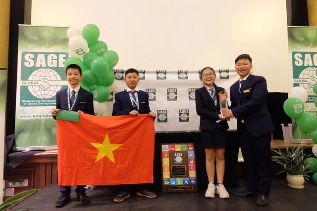 Học sinh Việt vô địch sân chơi khởi nghiệp quốc tế Sage Global 2019 tại Mỹ - 1