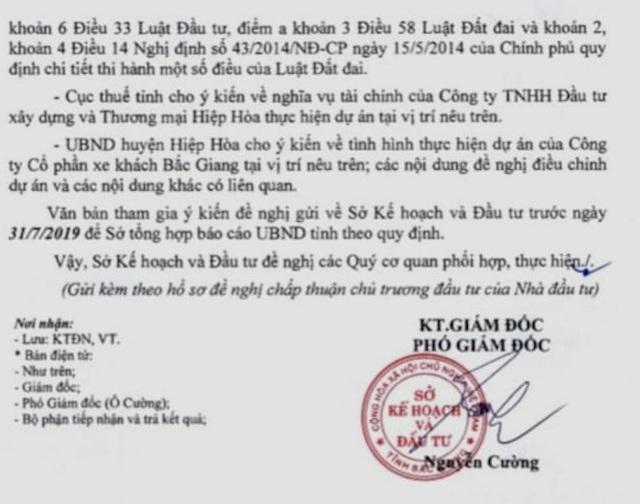 """Doanh nghiệp định làm xiếc nhiều sở ngành tại Bắc Giang: """"Lộ"""" 2 văn bản kỳ quặc! - 2"""