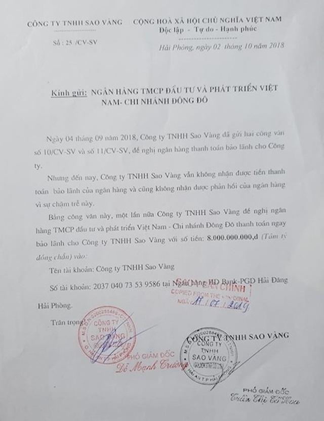 Một doanh nghiệp đề nghị làm rõ nghĩa vụ bảo lãnh của Ngân hàng BIDV chi nhánh Đông Đô - 5