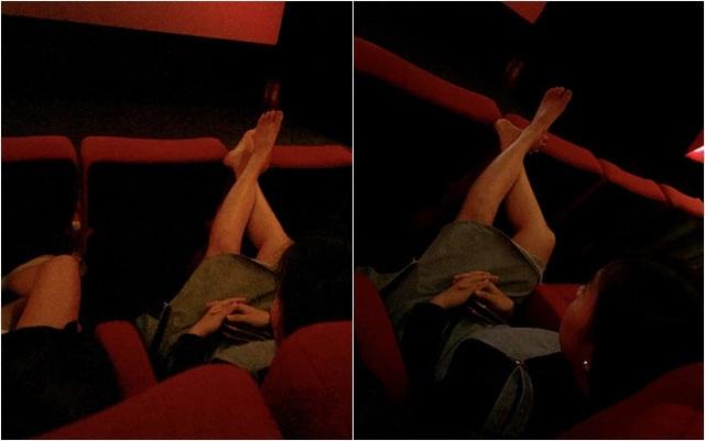"""Vô tư gác chân lên ghế trong rạp phim, gái xinh như hoa nhận đủ """"gạch đá"""" - 3"""