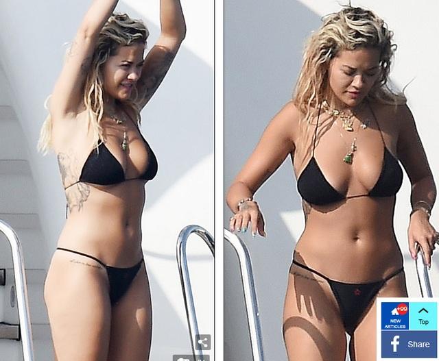 Rita Ora bốc lửa với bikini gợi cảm - 2