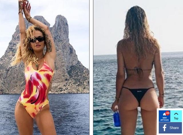 Rita Ora bốc lửa với bikini gợi cảm - 4