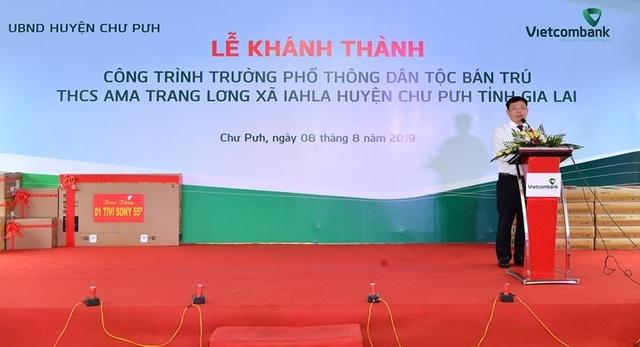 Vietcombank tài trợ 4,2 tỷ đồng xây Nhà ở bán trú và Nhà ăn cho Trường PTDT nội trú A ma Trang Lơng tại tỉnh Gia Lai - 2