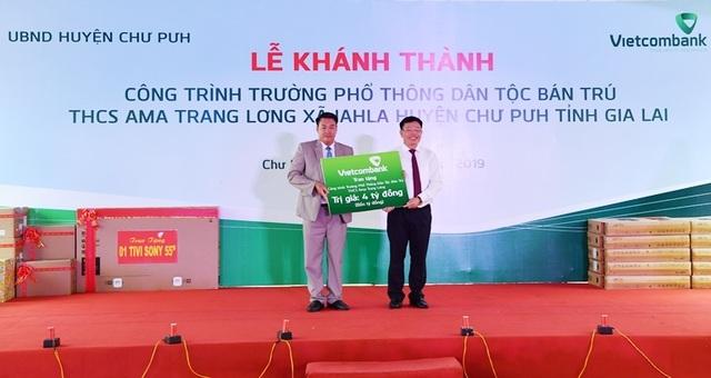 Vietcombank tài trợ 4,2 tỷ đồng xây Nhà ở bán trú và Nhà ăn cho Trường PTDT nội trú A ma Trang Lơng tại tỉnh Gia Lai - 5