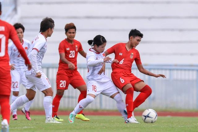 Đánh bại Myanmar, đội tuyển nữ Việt Nam toàn thắng ở vòng bảng giải Đông Nam Á - 3