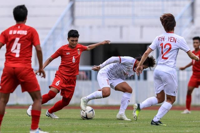 Đánh bại Myanmar, đội tuyển nữ Việt Nam toàn thắng ở vòng bảng giải Đông Nam Á - 2