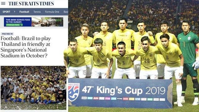 Rộ tin đội tuyển Thái Lan mời Brazil đá giao hữu - 1